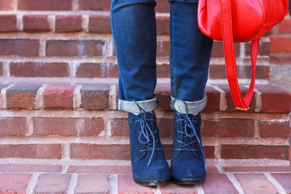 Navy Booties, Fall Booties