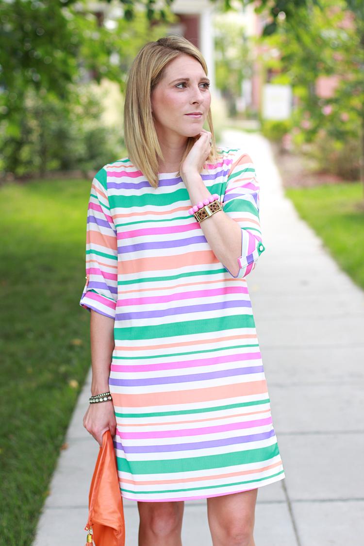 Bright Striped Dress, Striped Dress