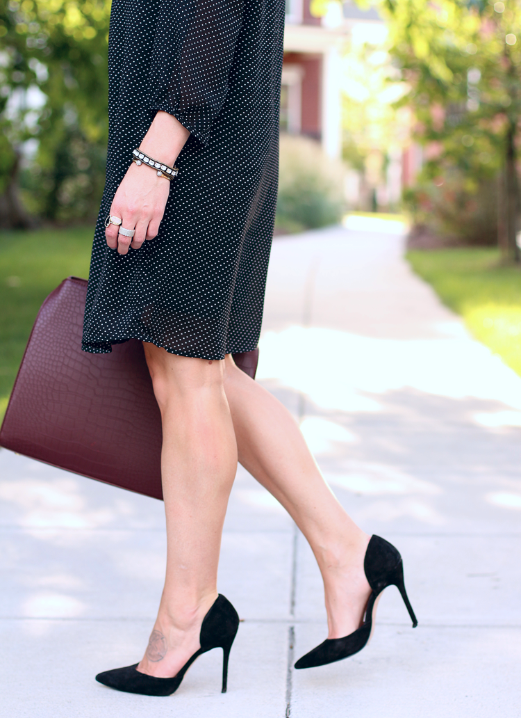 Oversized Burgundy Bag, Fall Outfit Idea