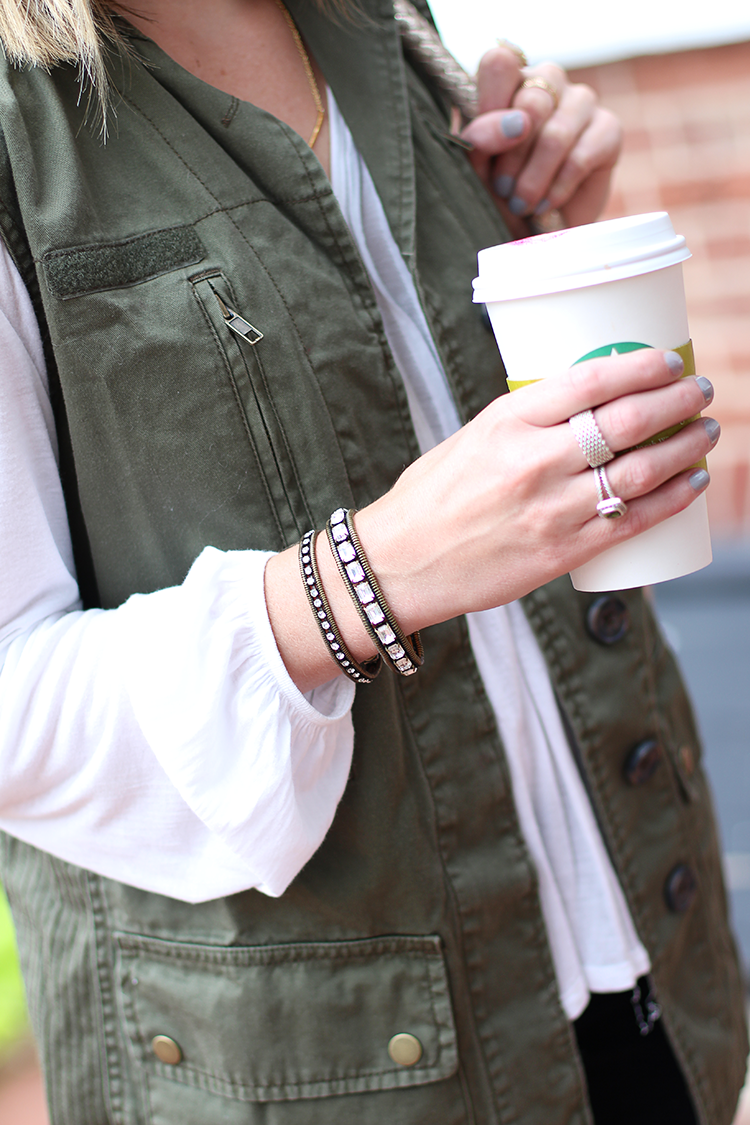Utility Vest, Fall Casual, Fall Outfit Idea, Military Vest