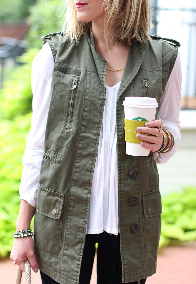 Fall Outfit Idea, Fall Casual, Utility Vest