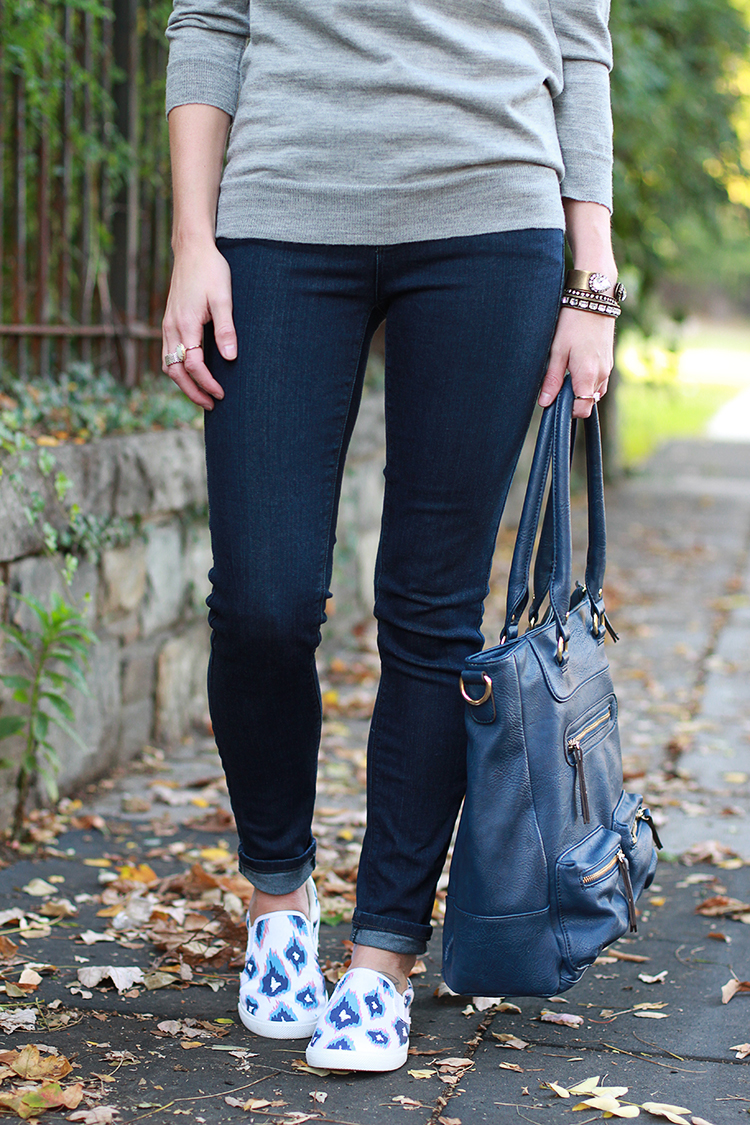 Fall Outfit Idea, Comfy Slip Ons, JCrew Tippi Sweater