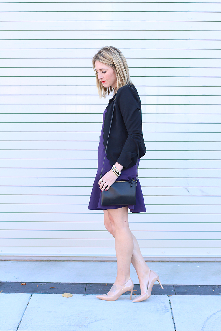 Fall Outfit, Nude Heels, Flare Skirt