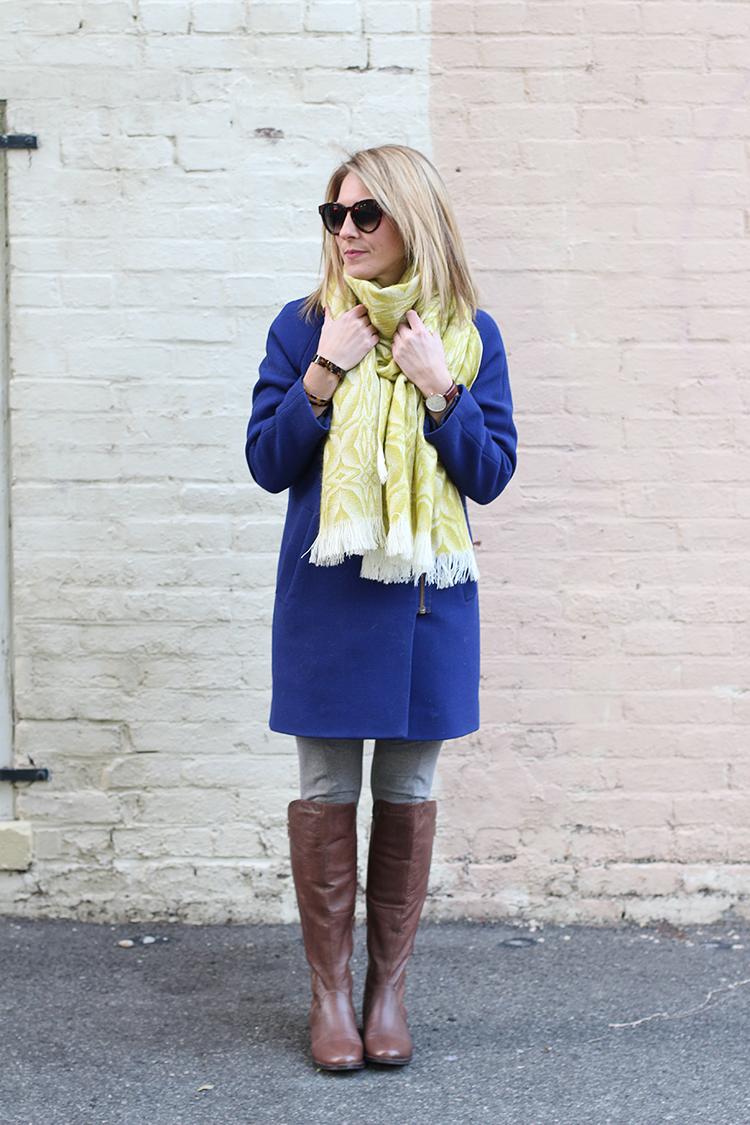 Cobalt Blue Jacket, Winter Brights