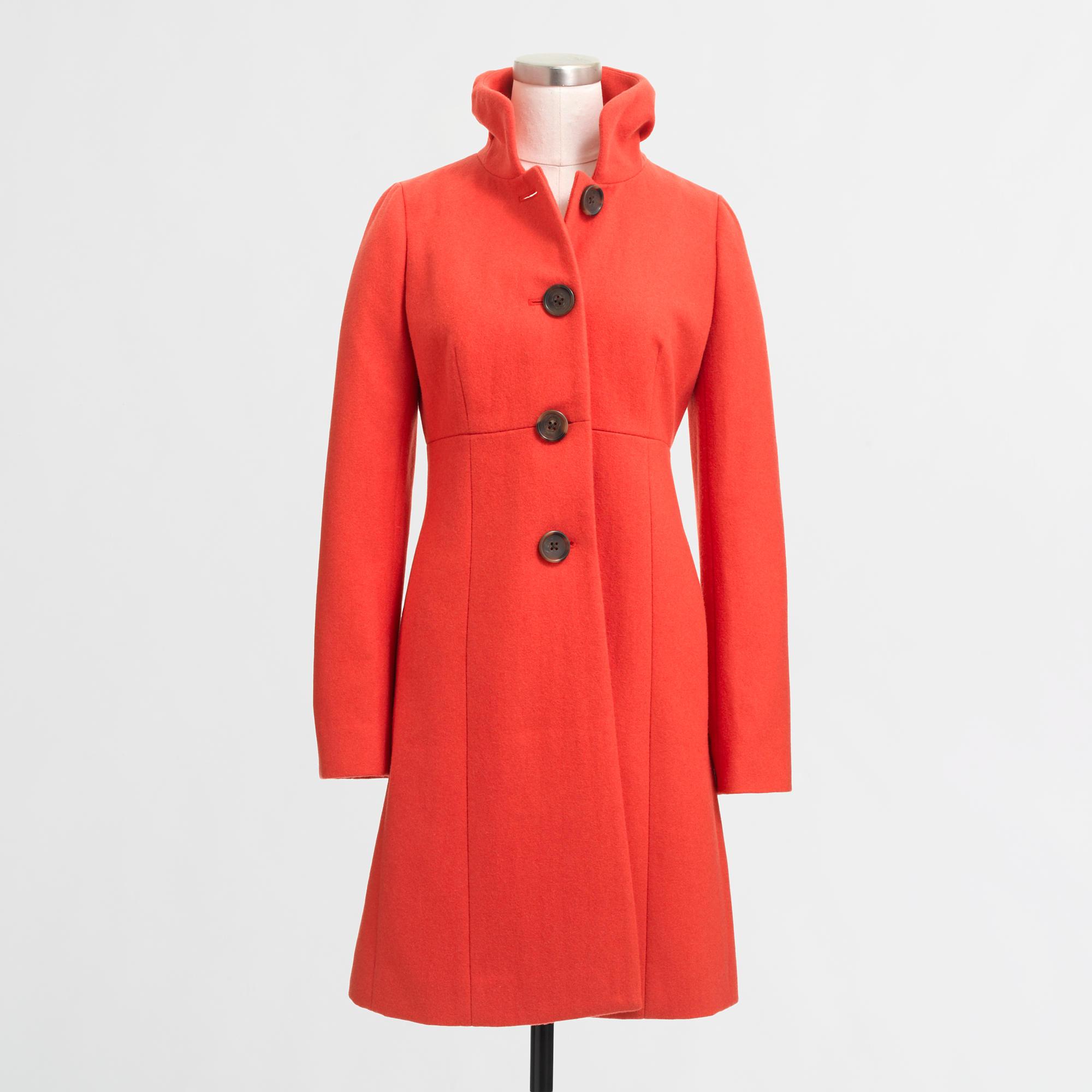 Ruffle-Collar Dress Coat
