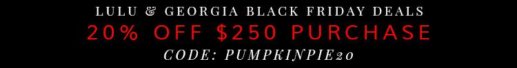 Lulu & Georgia Black Friday Deals 2014
