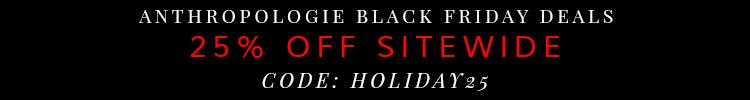 Anthropologie Black Friday Deals 2014