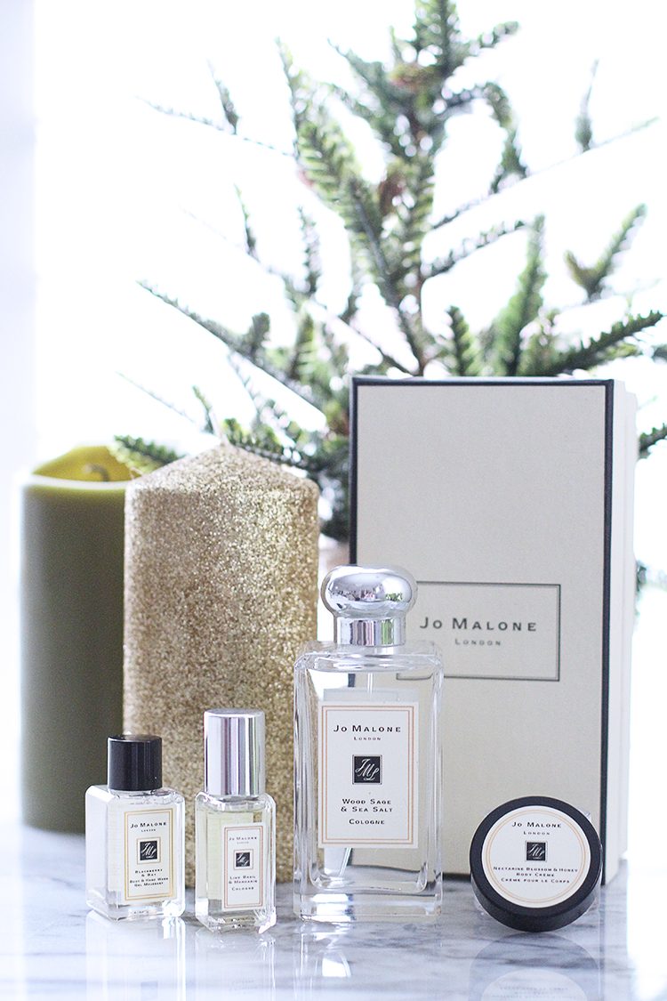 Jo Malone Holiday 2014, Jo Malone Wood Sage & Sea Salt Review, Stocking Stuffers for Her
