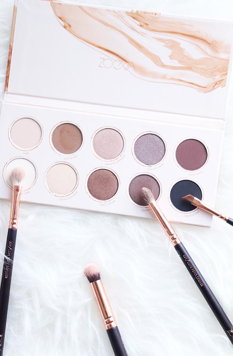 Zoeva Rose Gold Brushes, Neutral Eyeshadow Palette