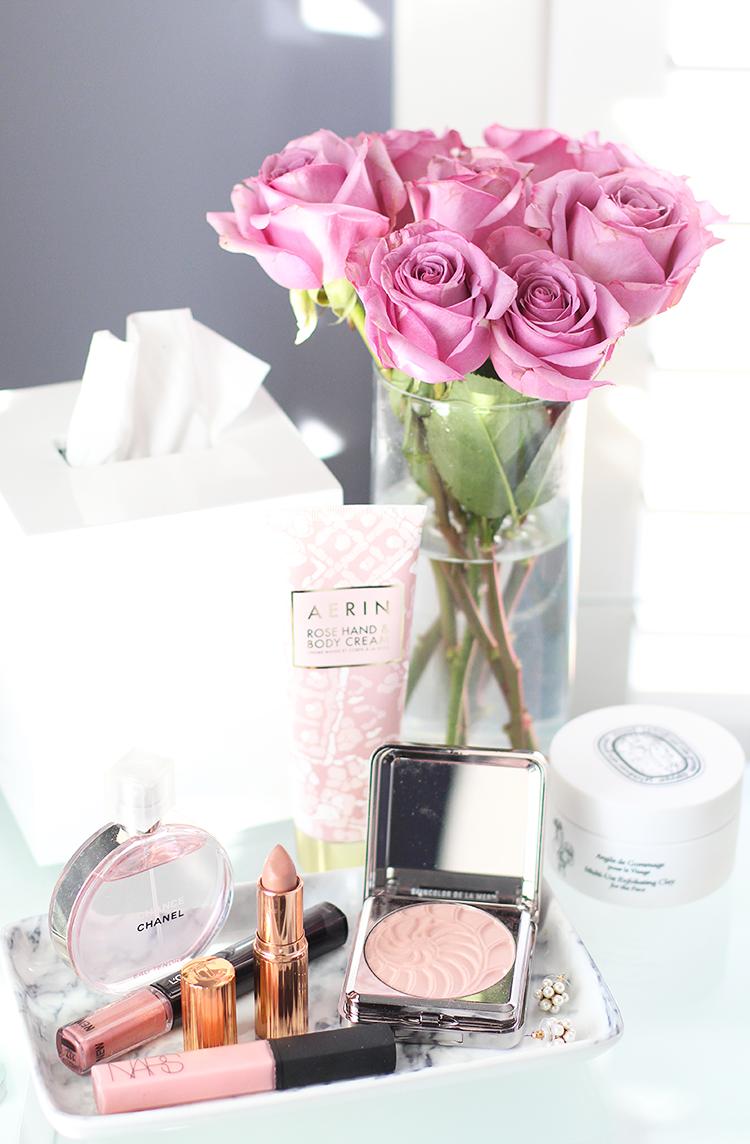 Blush Pink Valentine's Day Makeup Idea