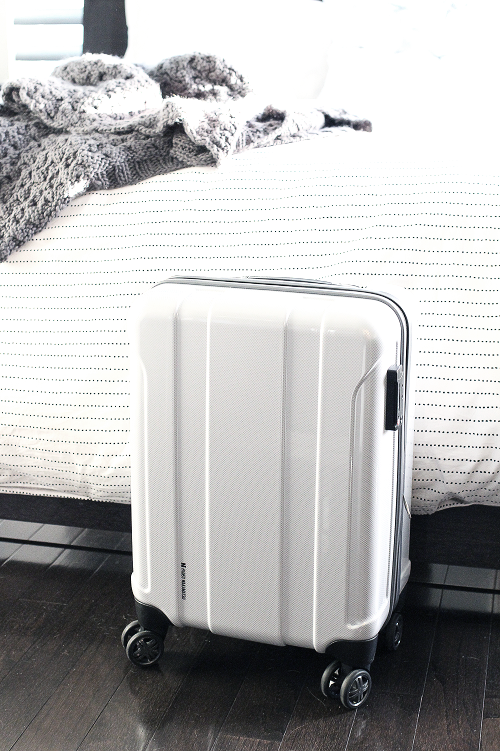 White Carry On Luggage