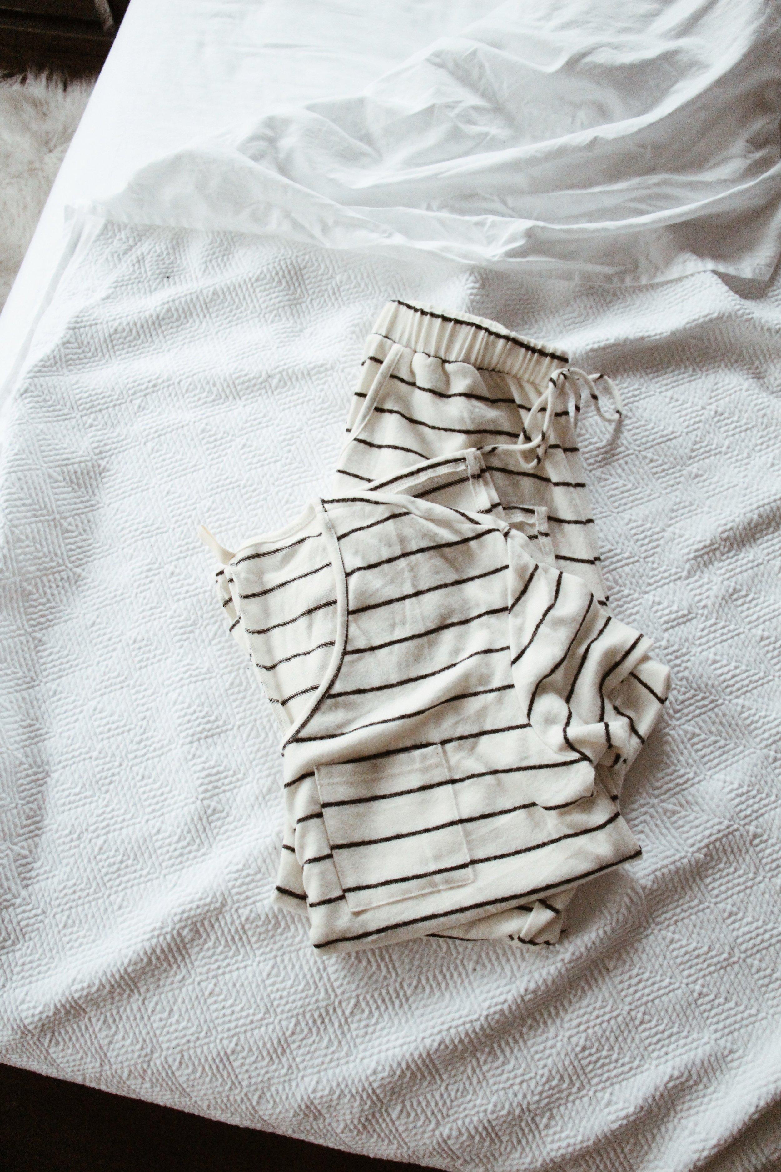 Striped Pajamas, Cozy Maternity Pajamas