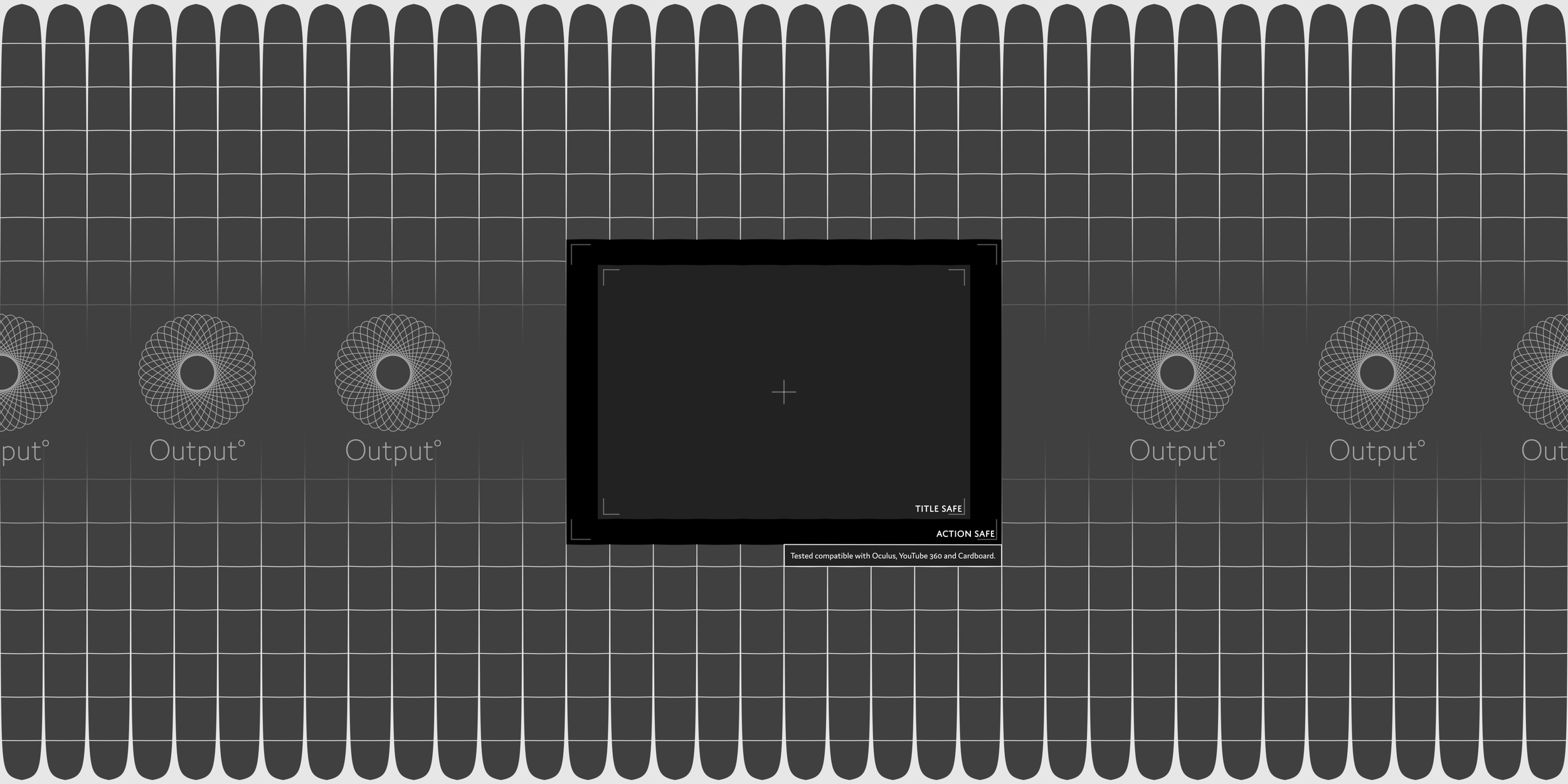 """VR / 360° Title Safe Overlay  To download: right-click and """"save file as"""""""