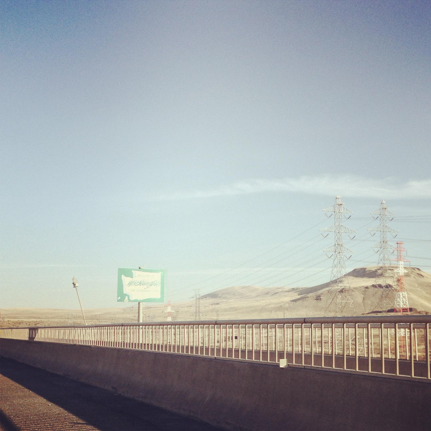Crossing into Washington