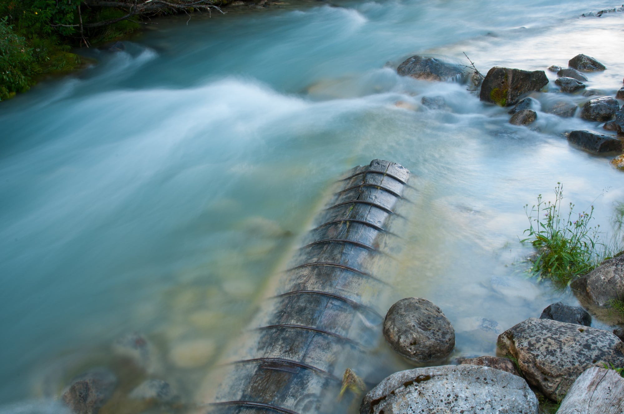 Aquaduct, Louise Creek, Lake Louise, Banff National Park, July 2015