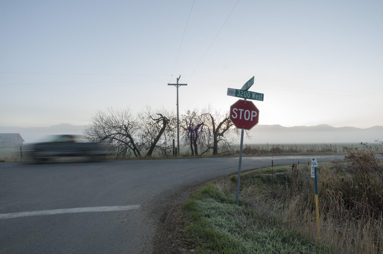 Stop Sign, Telephone Pole, Benson, Utah 2016