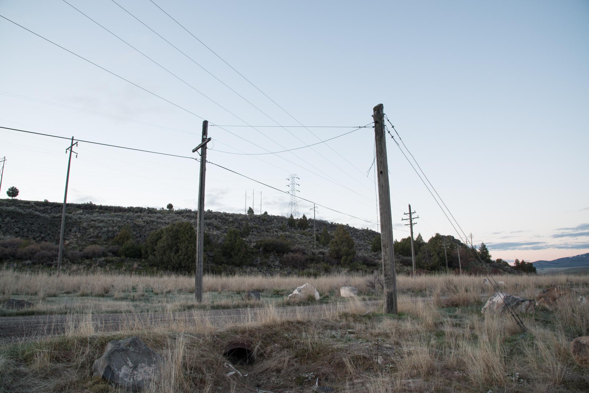 Power Lines and Power Poles, Grace, Utah 2017