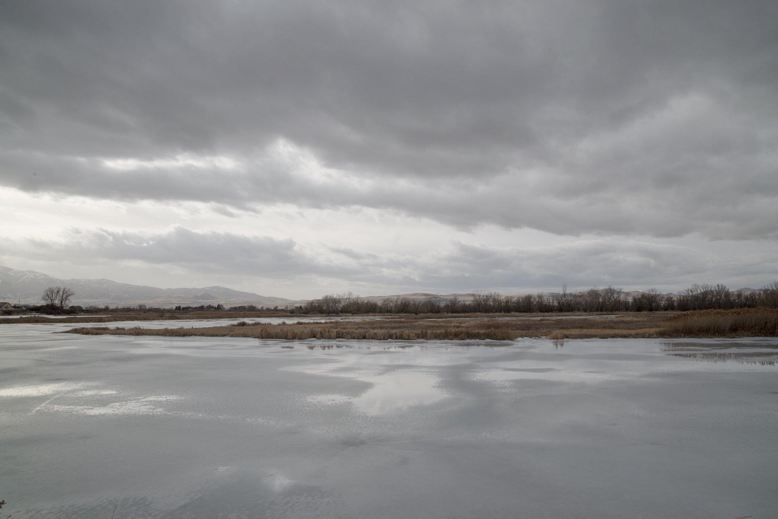 Melting Ice, Bear River, Benson, Utah 2018