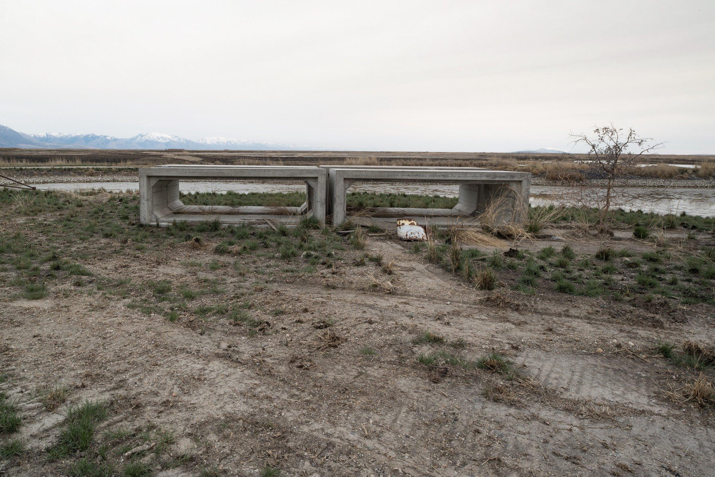 Cement Forms, Bear River Migratory Bird Refuge, Utah 2018