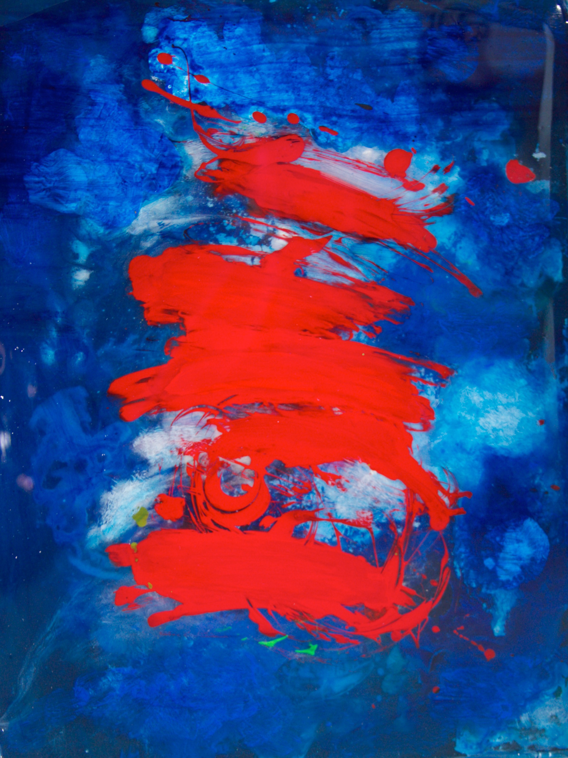 """Untitled     24"""" x 32""""   acrylic and resin on board - - SOLD"""