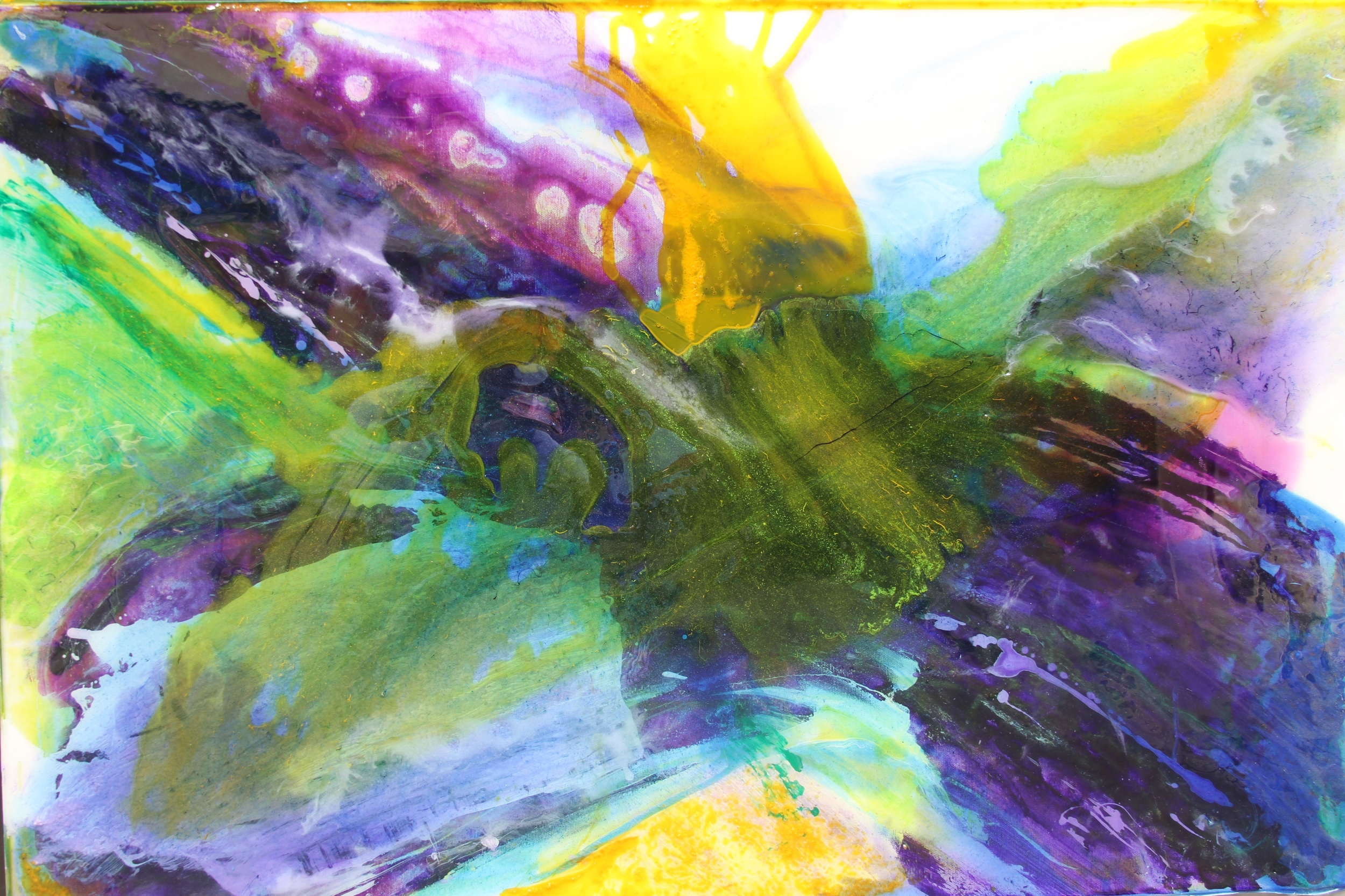 """""""violet wave""""     36"""" x 48""""  acrylic and resin   - sold"""