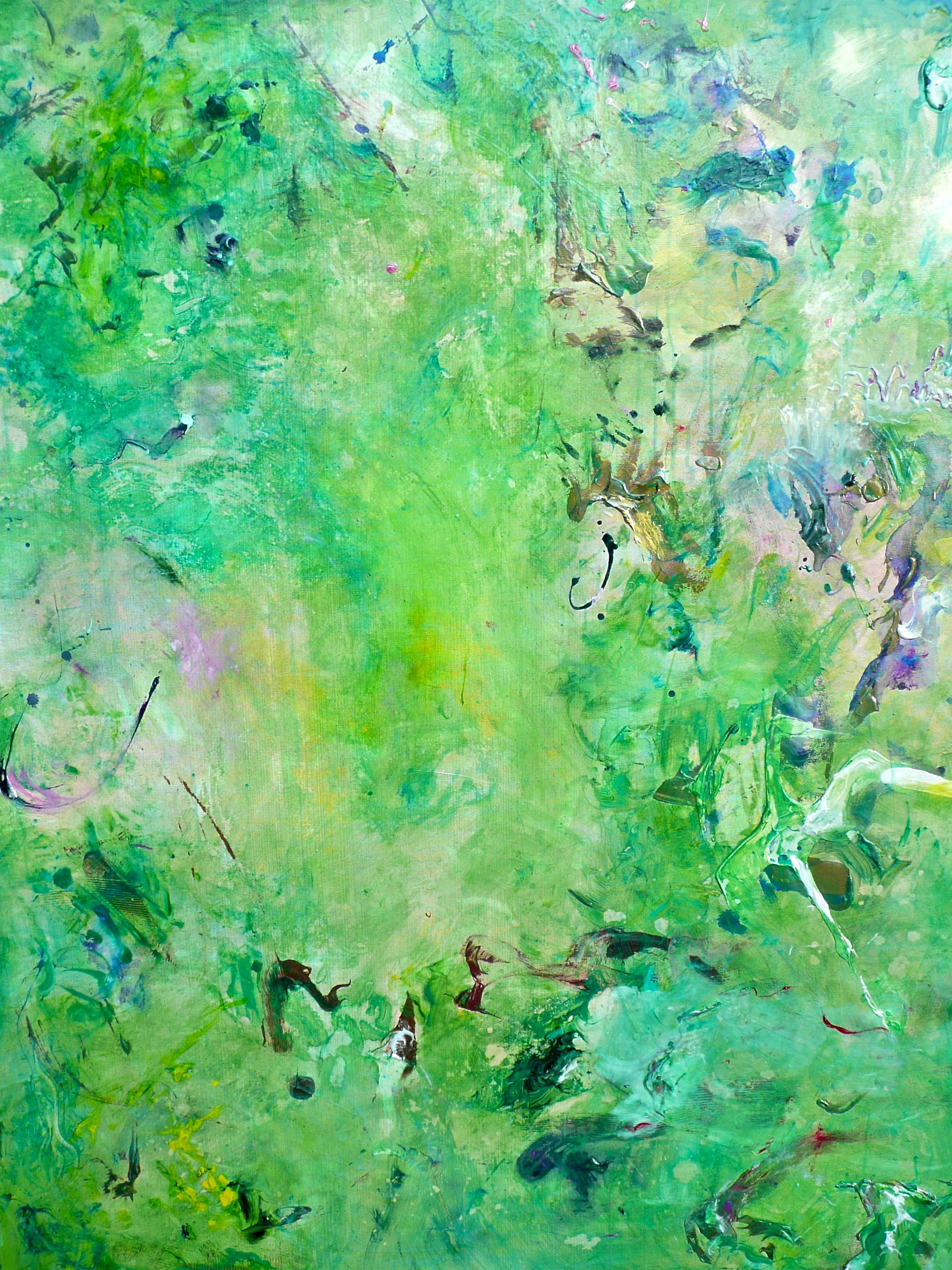 """""""green dream""""   48"""" x 72"""" acrylic on canvas (one of a triptych)   - sold"""
