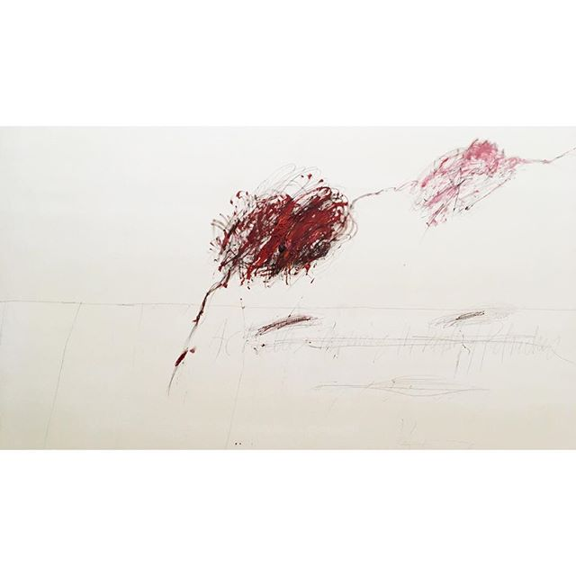 🔴 Cy Twombly. Achilles Mourning the Death of Patroclus, 1962.  #centrepompidou #paris #france #abstractexpressionism #sothebys #christies #instaart #pfw #cytwombly #saintgermaindespres #contemporaryart #modernart