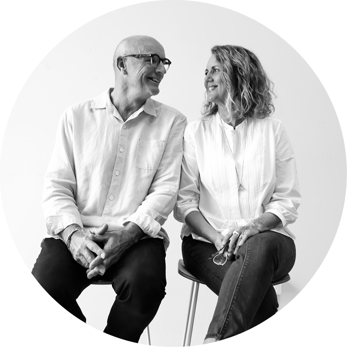 Owners Pete & Di who even after 10 years are still very much involved in the everyday running of the design business.