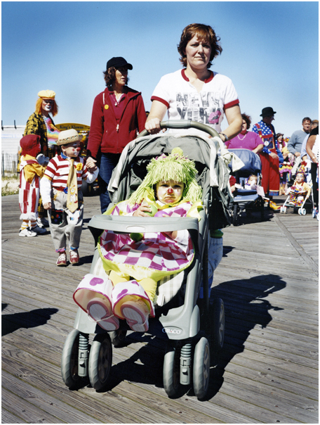 Marchers in Clown Parade. Point Pleasant, NJ. 2004.