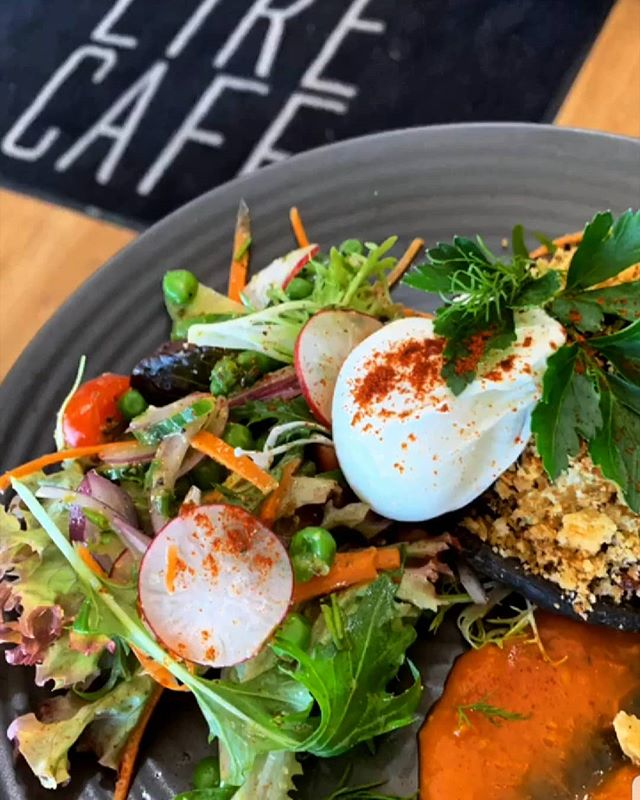 Get in quick to try this weeks special: Roasted field mushrooms stuffed with chorizo, goats cheese and parmesan breadcrumbs topped with a perfect poached egg
