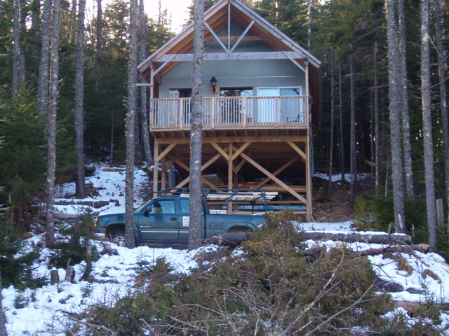 A custom, in-house designed seasonal home nears completion.