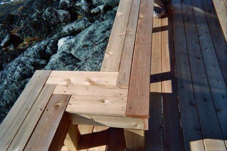 Custom deck bench