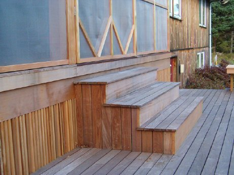 Custom enclosed porch and lowered deck