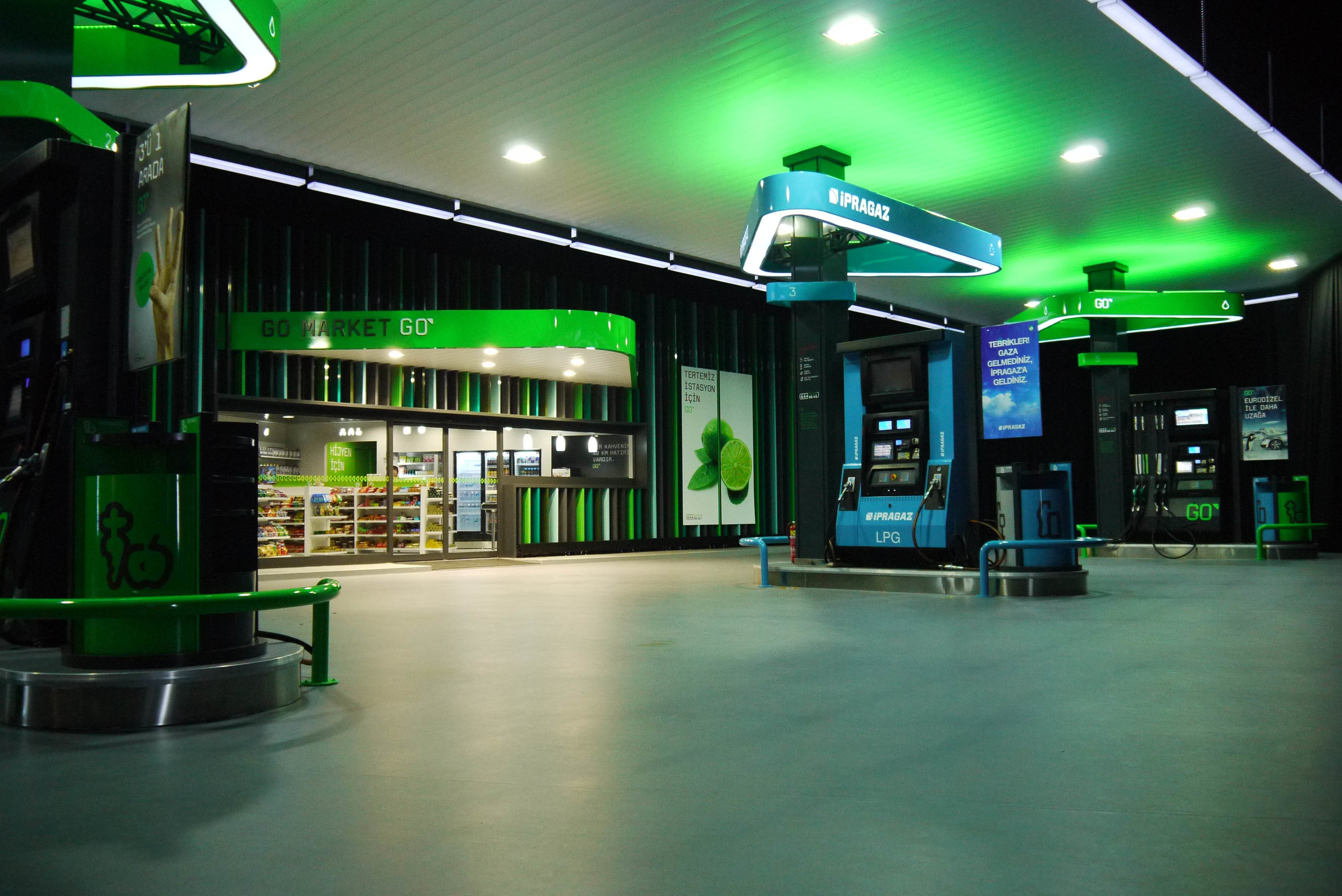 petrol station design brand
