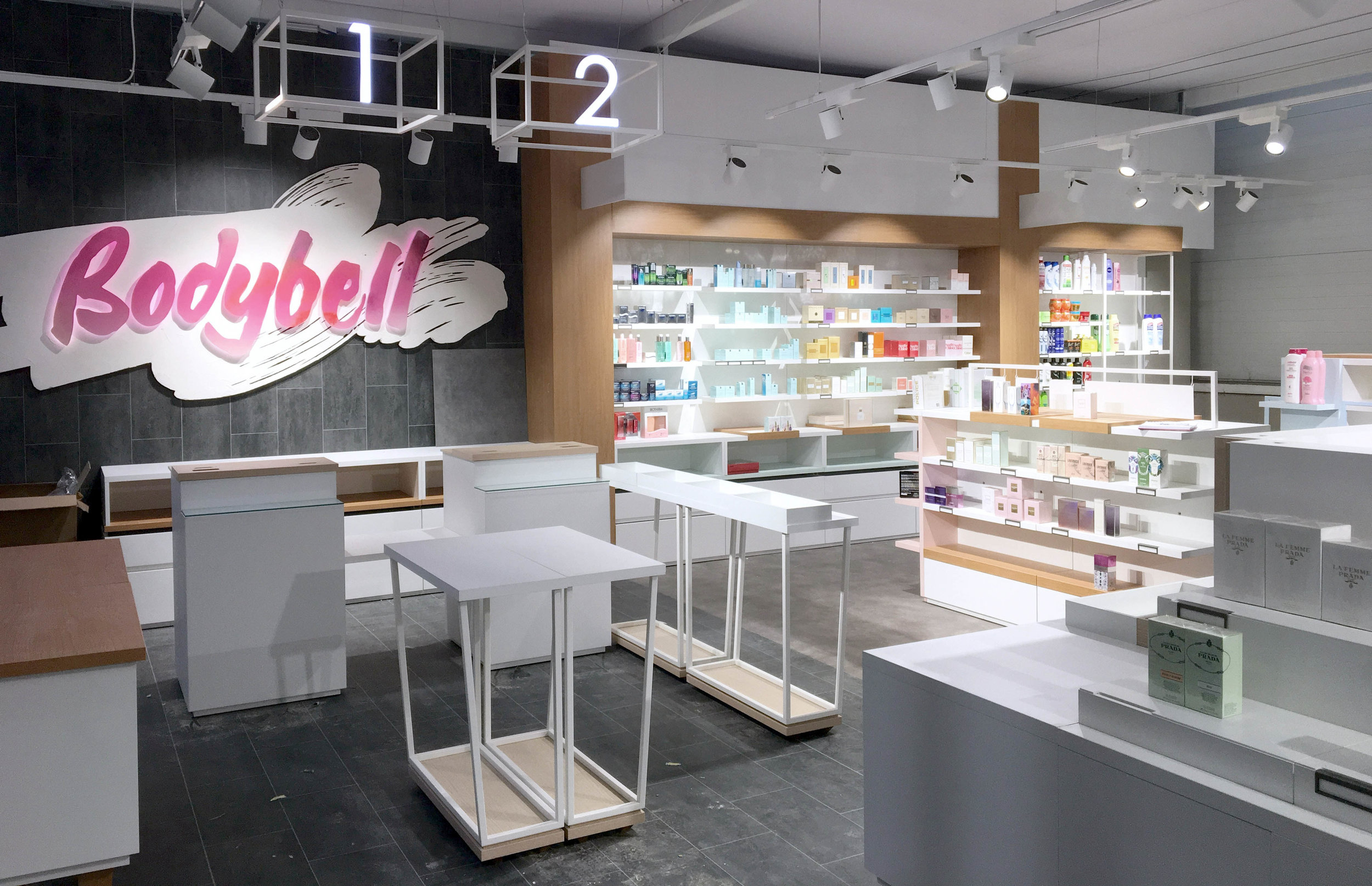 retail cosmetic beauty. Mock up
