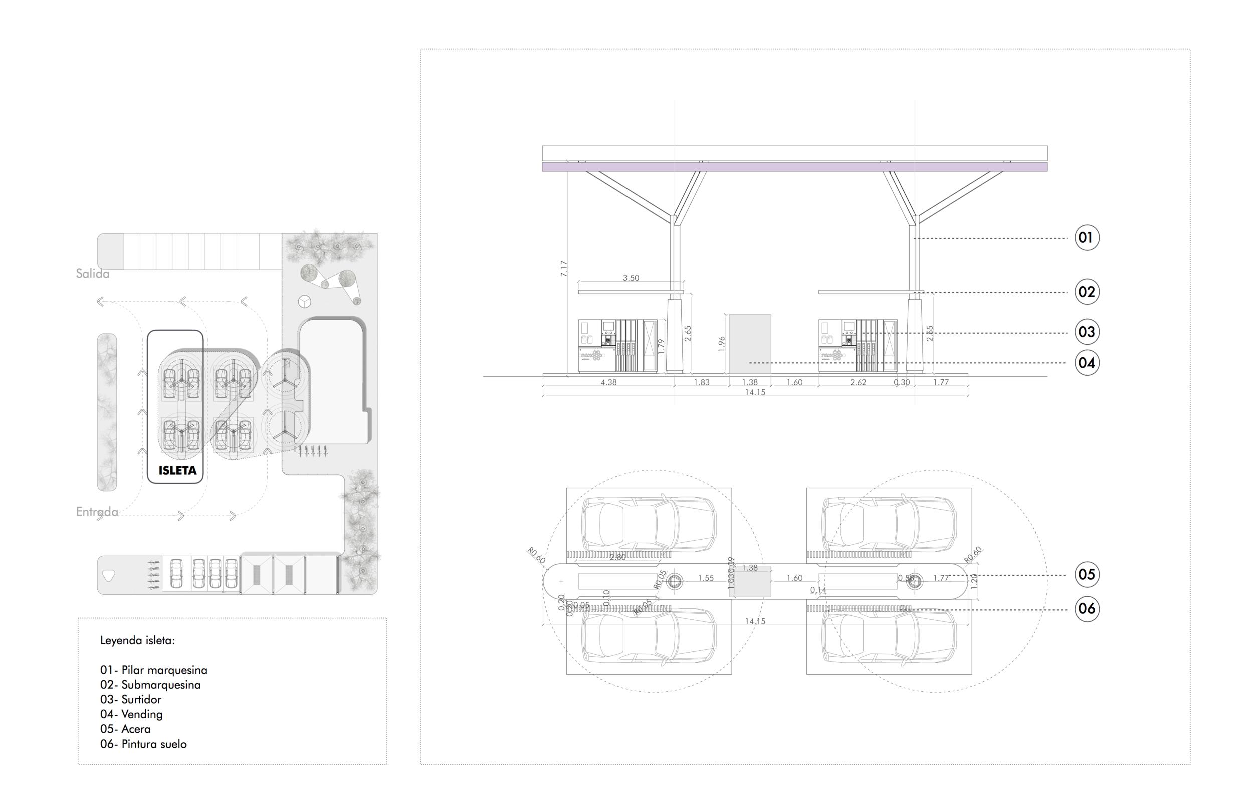plano gasolinera diseño