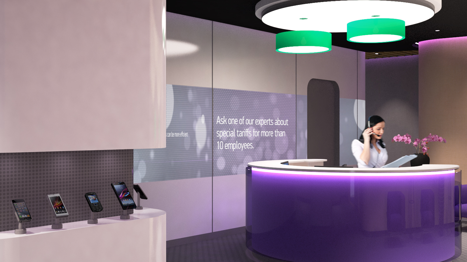 Mobile phone business center -