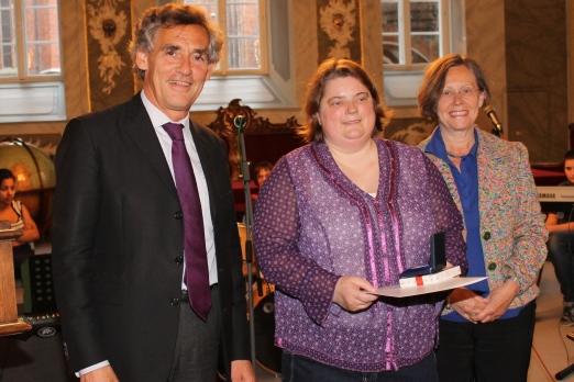 Bürgermeister Bernhard Saxe zusammen mit Petra
