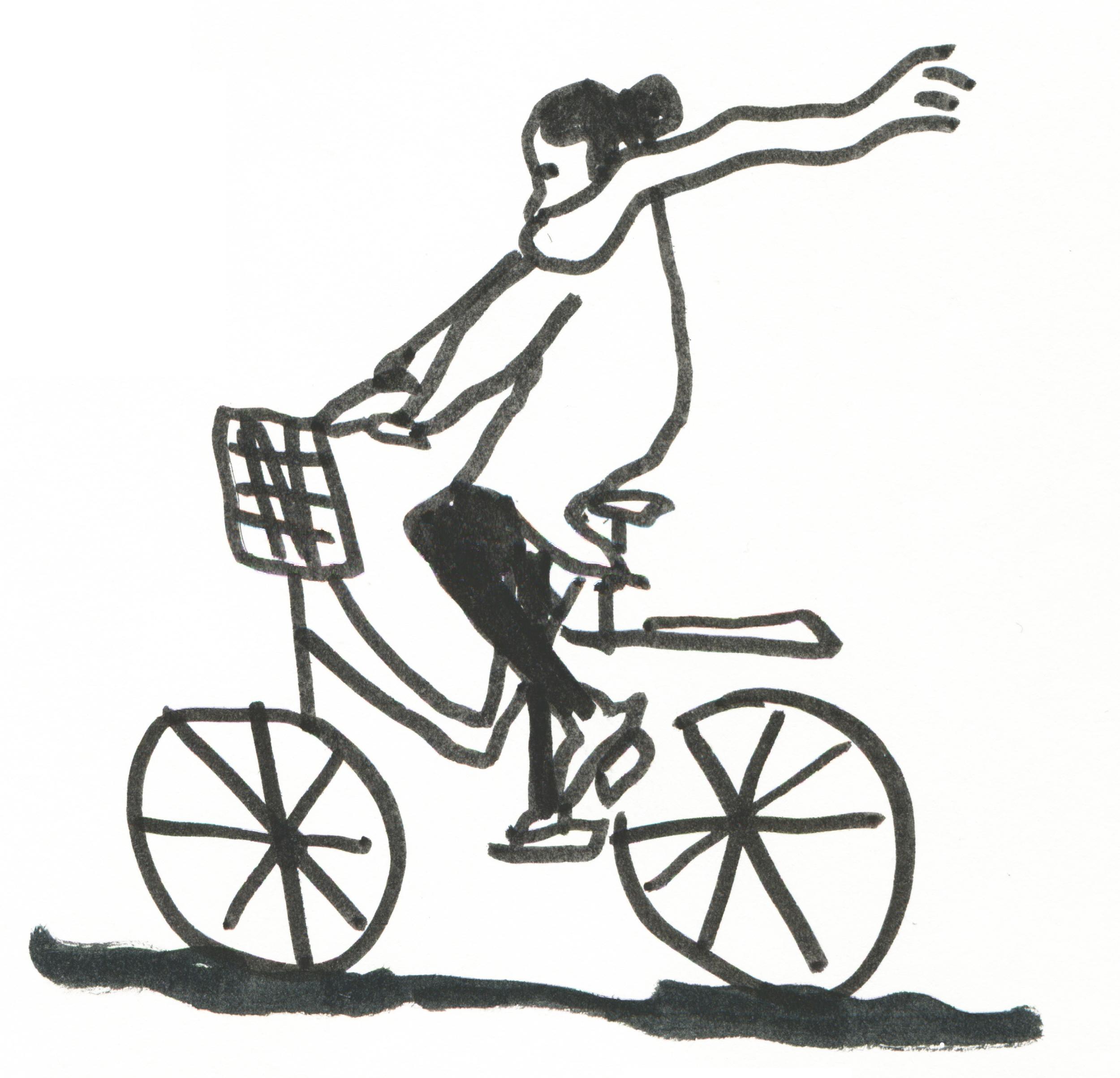Self-portrait with a Bike//Autoportrait à la Bicyclette