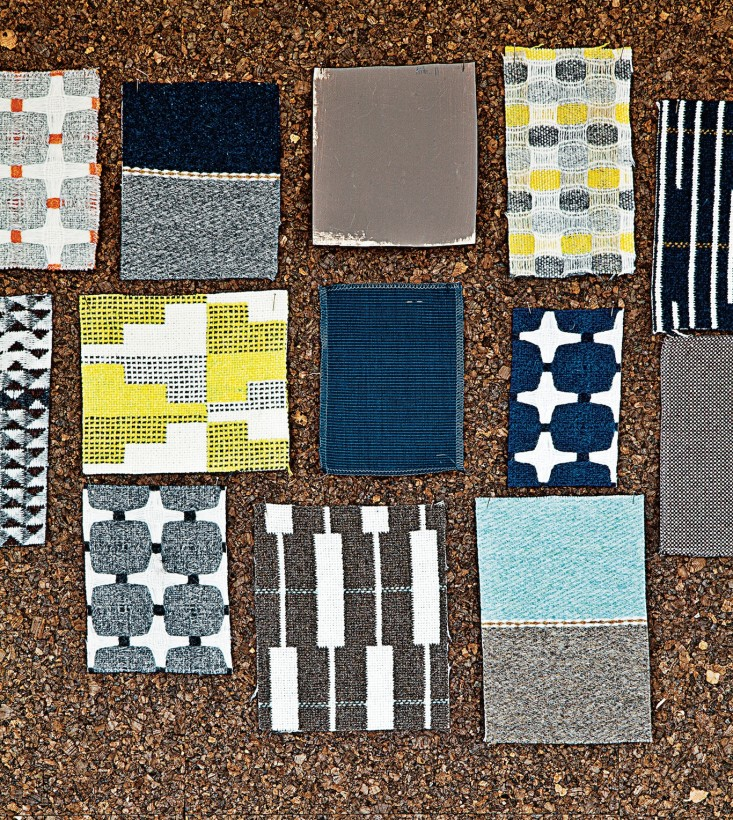 Textiles swtatches by  Eleanor Pritchard  Via  Remodelista