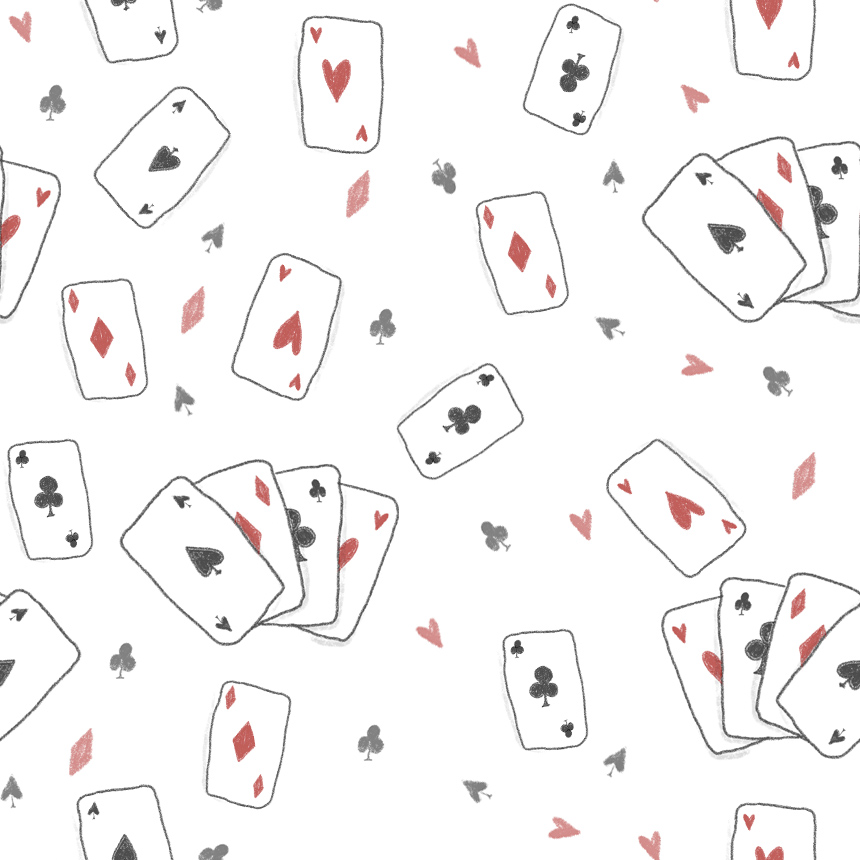 "I am posting ""Playing cards pattern"" exactly one week after posting Pattern#09 ! We're getting there !"