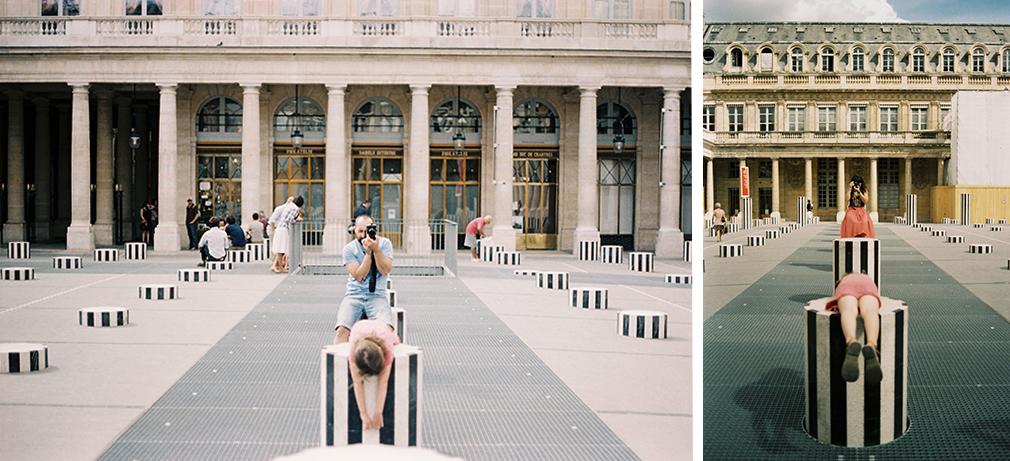 Cour d'honneur du Palais-Royal, Paris, 8 août 2012