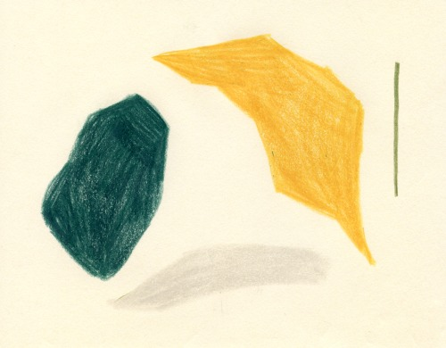 [[Unknown source, color-blockingin pencils /// Source inconnue color-block au crayon]]