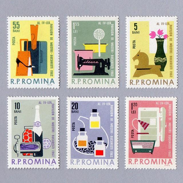 [[Vintage romanian stamps via  Present &Correct's Instagram /// Des timbres roumains vintage via l' InstagramPresent &Correct ]]