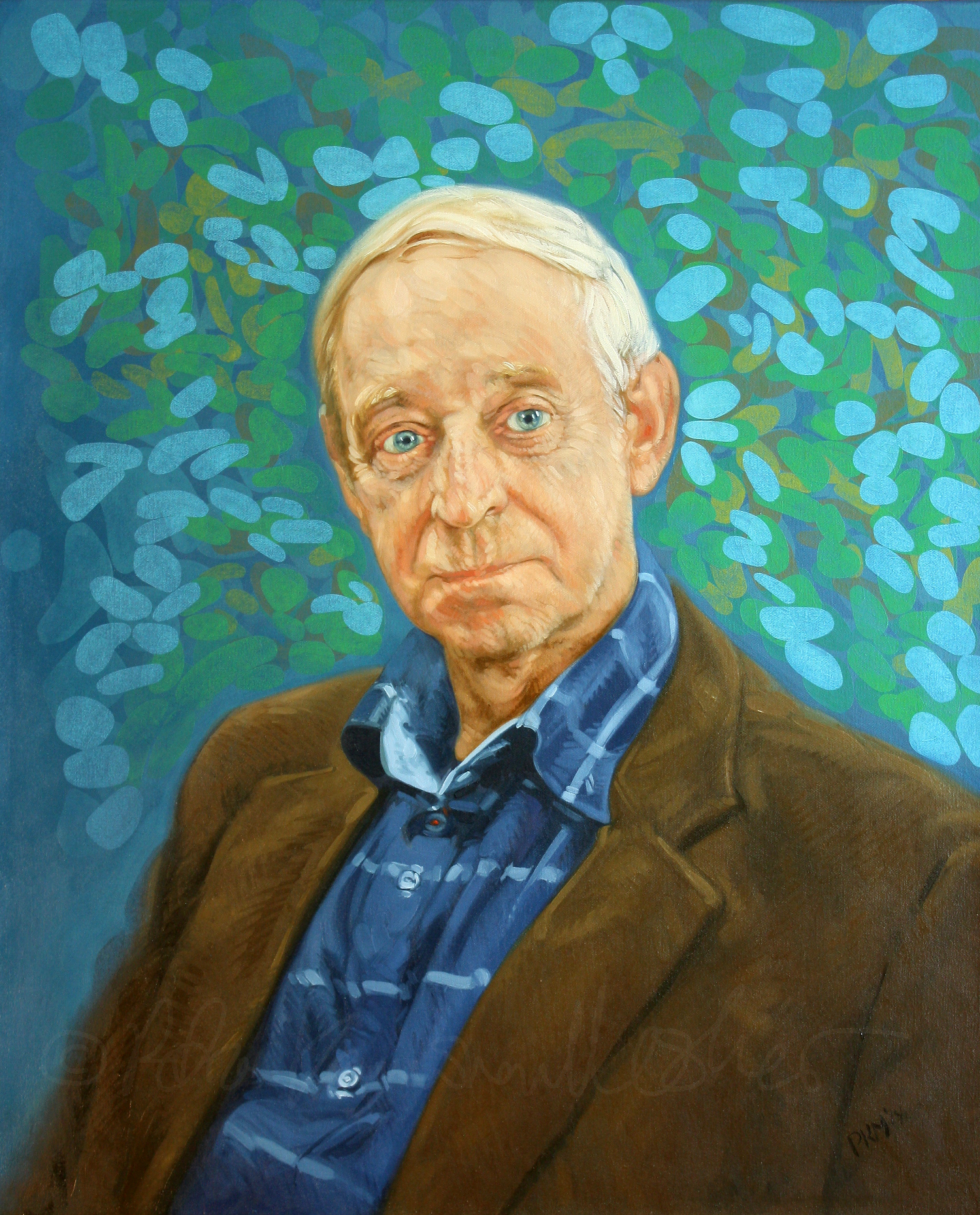 Pentti Simojoki, oil on canvas, 61 x 50cm, 2014