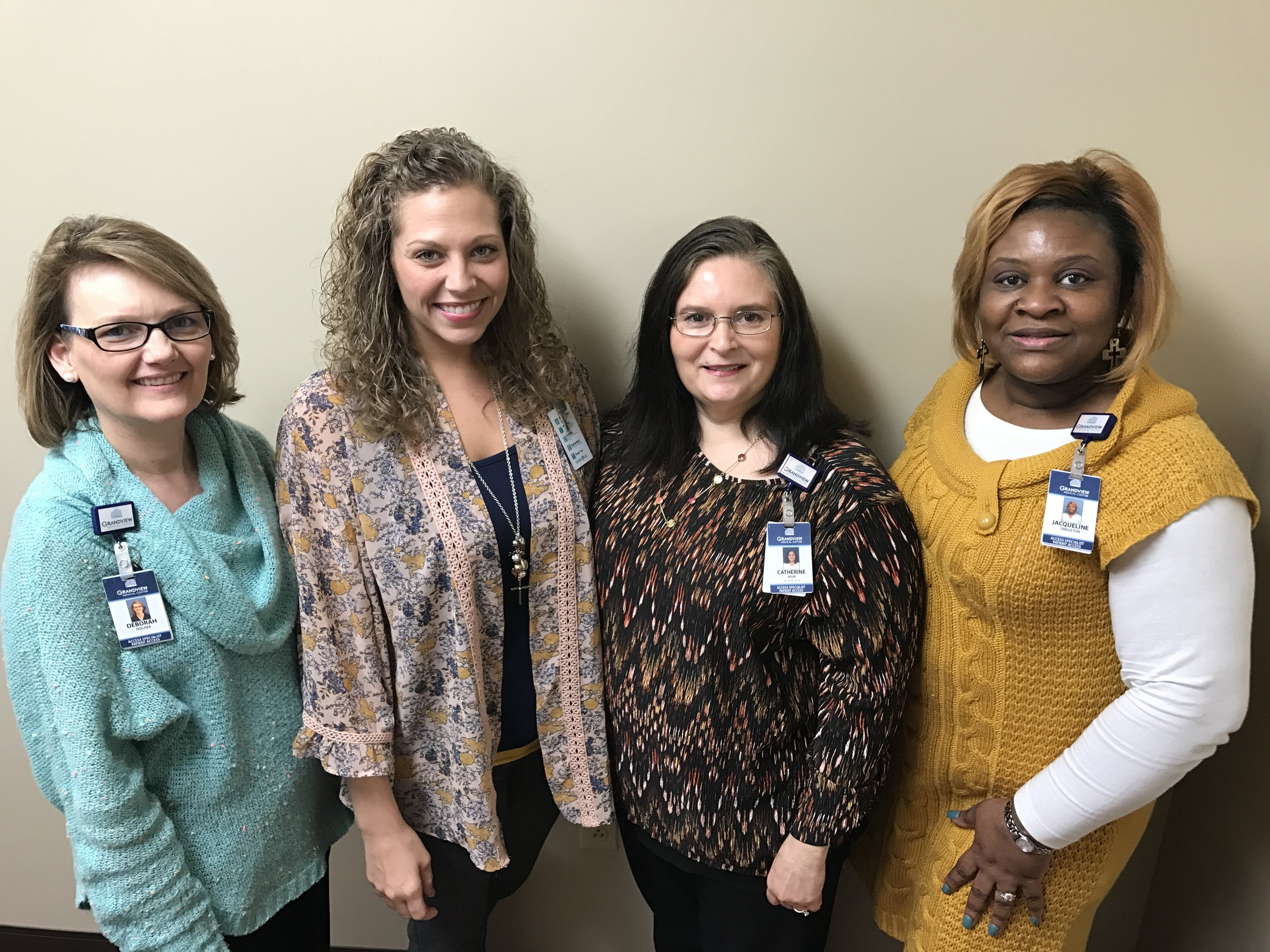 Deborah Holder, Jessica Butler, Catherine Muir, Jacqueline Singleton  Grandview Medical CPAR recipients that earned their CPAR this year in Birmingham.