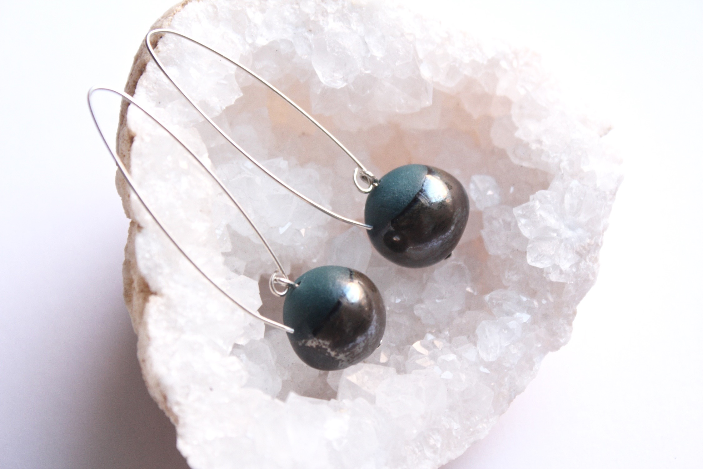Peal Earrings in Teal
