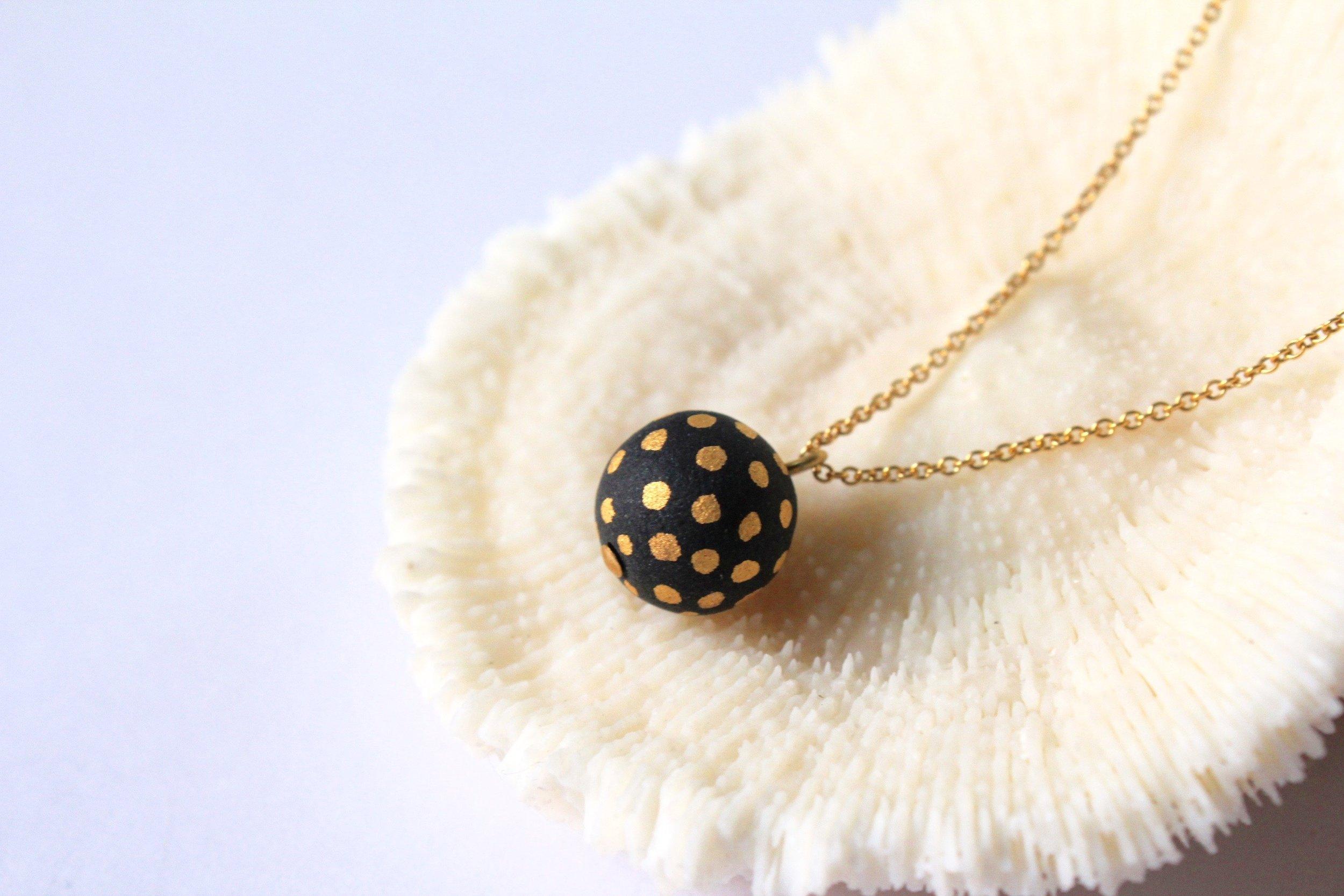 Ladybug Black Necklace