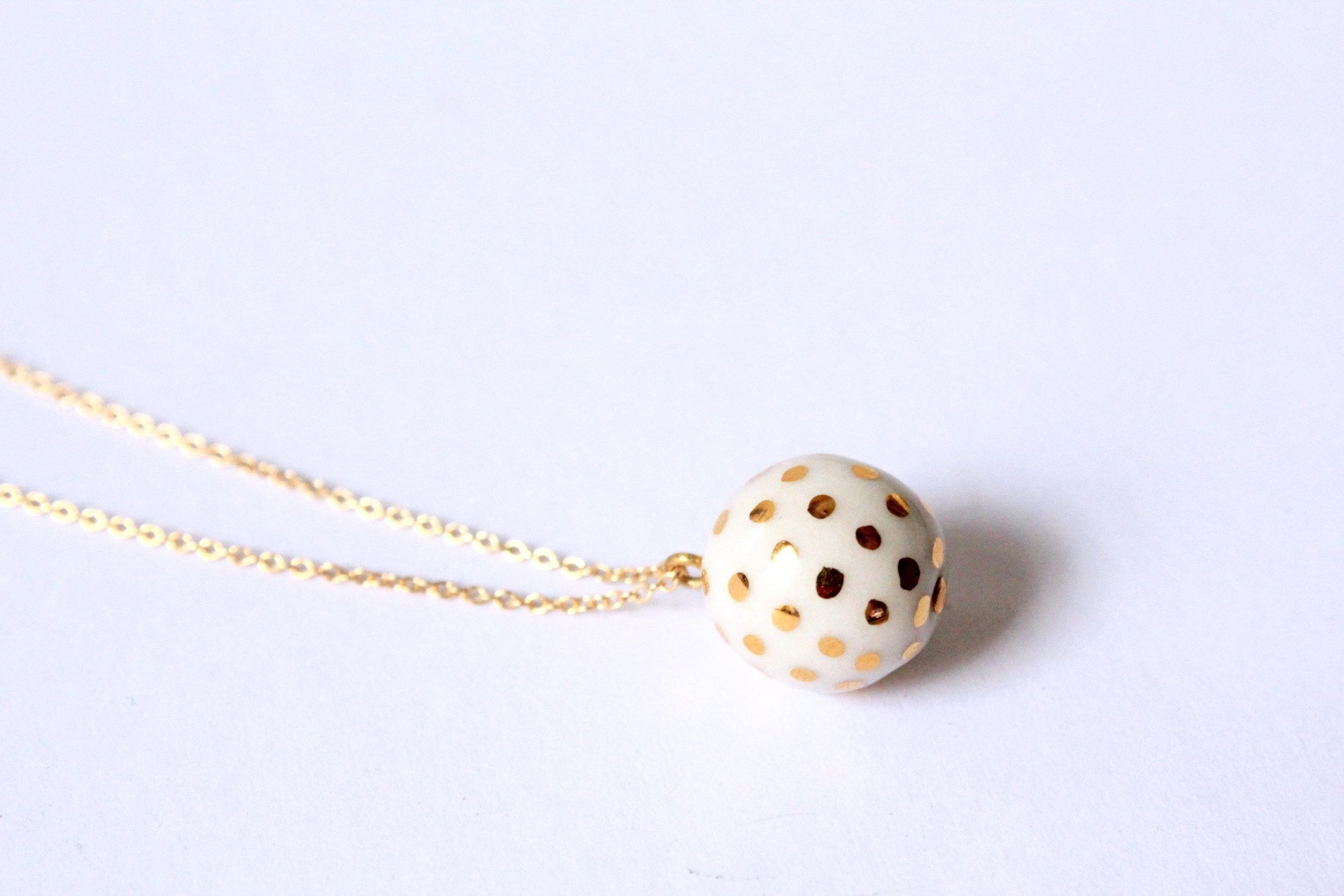 Ladybug White Necklace