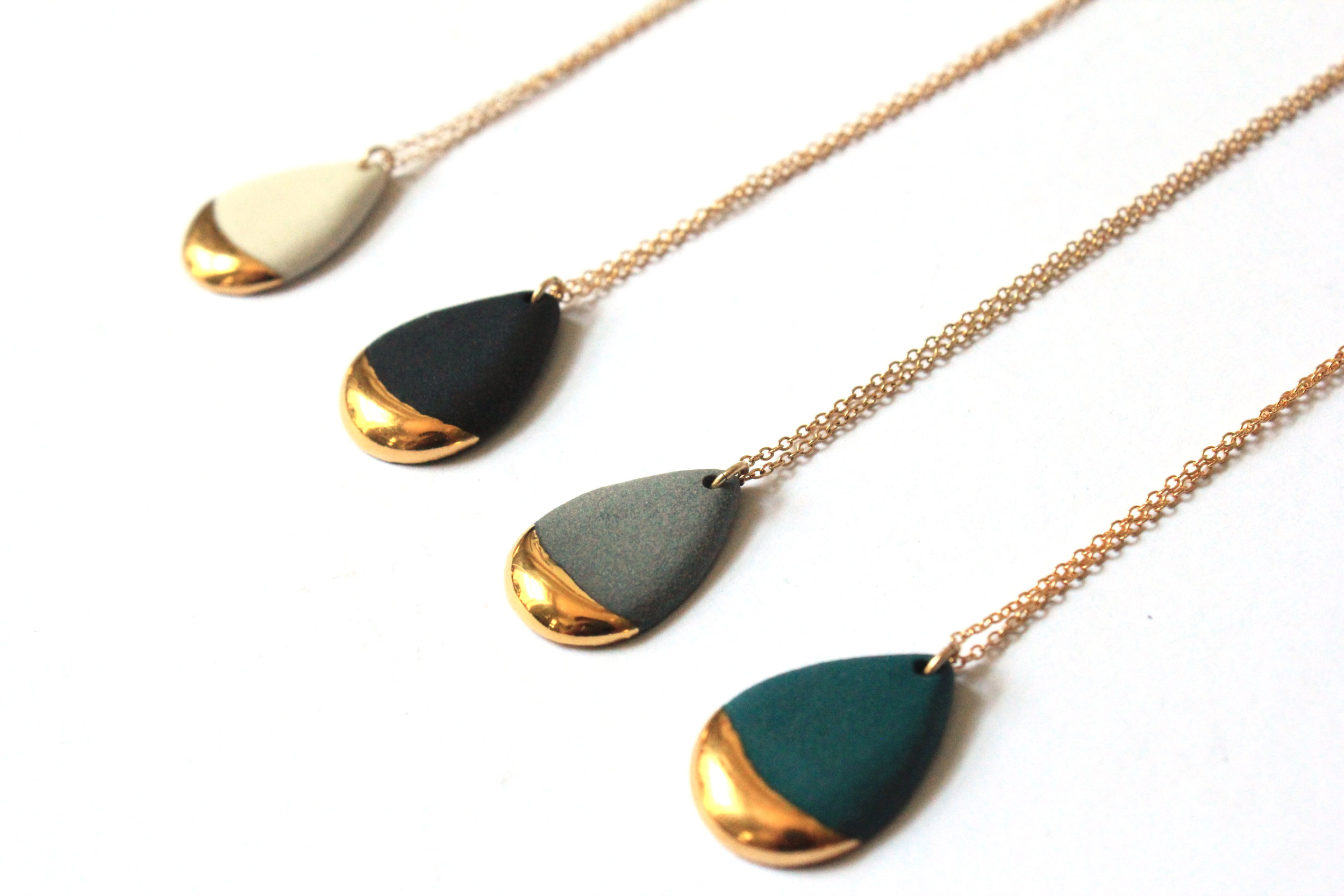 Gold Dipped Teardrop Necklace